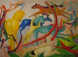 Bild des Werkes mit dem Titel: Chevaux dangereux (Gefährliche Pferde)
