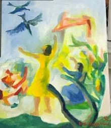 Bild des Werkes mit dem Titel: Les oiseaux voulant être libre (Vögel, die frei sein wollen)