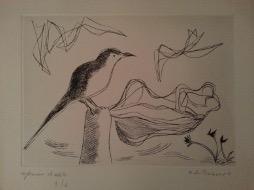 Bild des Werkes mit dem Titel: Liebespaar mit Vogel