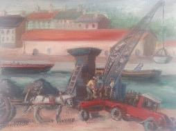 Bild des Werkes mit dem Titel: Hafenszene