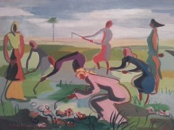 Bild des Werkes mit dem Titel: Moissonneuses au Maroc (Landarbeiterinnen in Marokko)