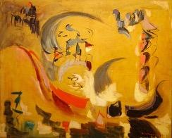 Bild des Werkes mit dem Titel: La gondole rouge (Die rote Gondel)