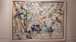 Bild des Werkes mit dem Titel: Skieurs rentrant au chalet (Skifahrer, die zum Chalet zurückkehren)