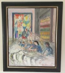 Bild des Werkes mit dem Titel: La femme et la tapisserie (Die Frau und der Wandteppich)