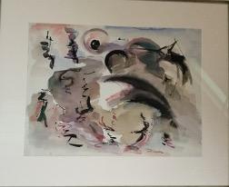 Bild des Werkes mit dem Titel: Leuchtturm in der Lagune Venedigs