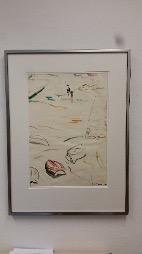 Bild des Werkes mit dem Titel: Fischer und Boote am Strand