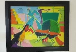Bild des Werkes mit dem Titel: Paysannes au travail (Bäuerinnen bei der Arbeit)