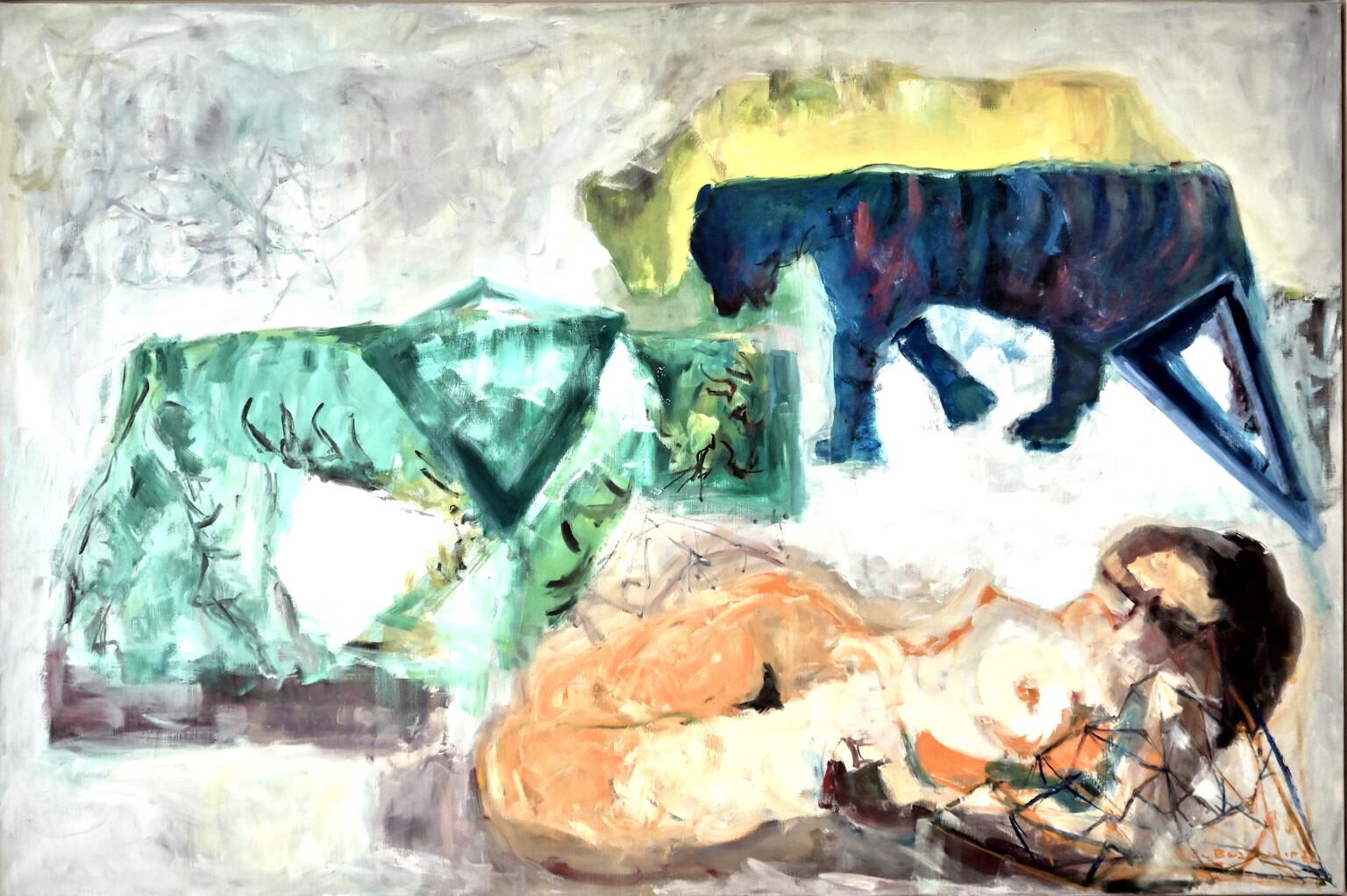 Bild des Werkes mit dem Titel: Tigre vert et tigre bleu (Grüner Tiger und blauer Tiger)