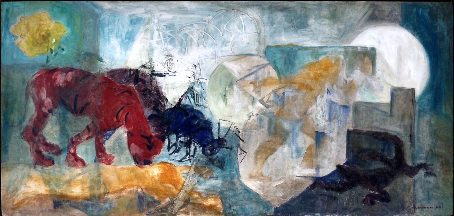 Bild des Werkes mit dem Titel: Tiger, Wespe und Echse