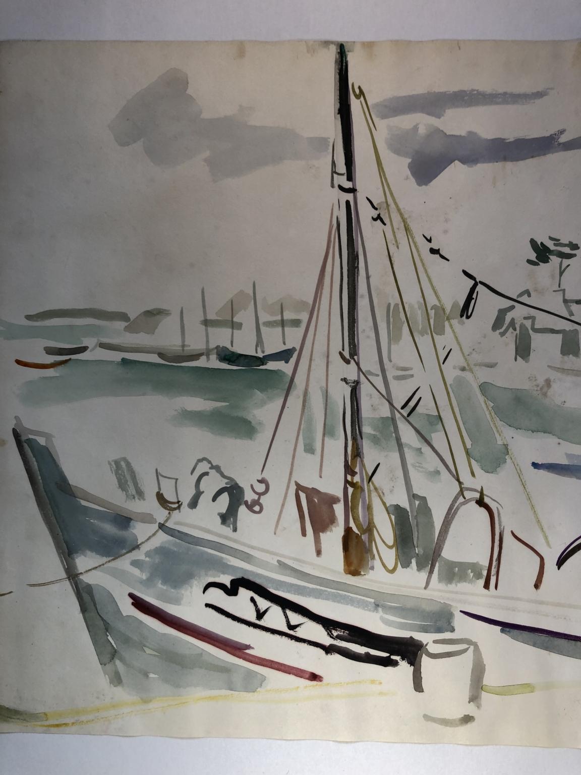 Bild des Werkes mit dem Titel: Segelboot im Hafen