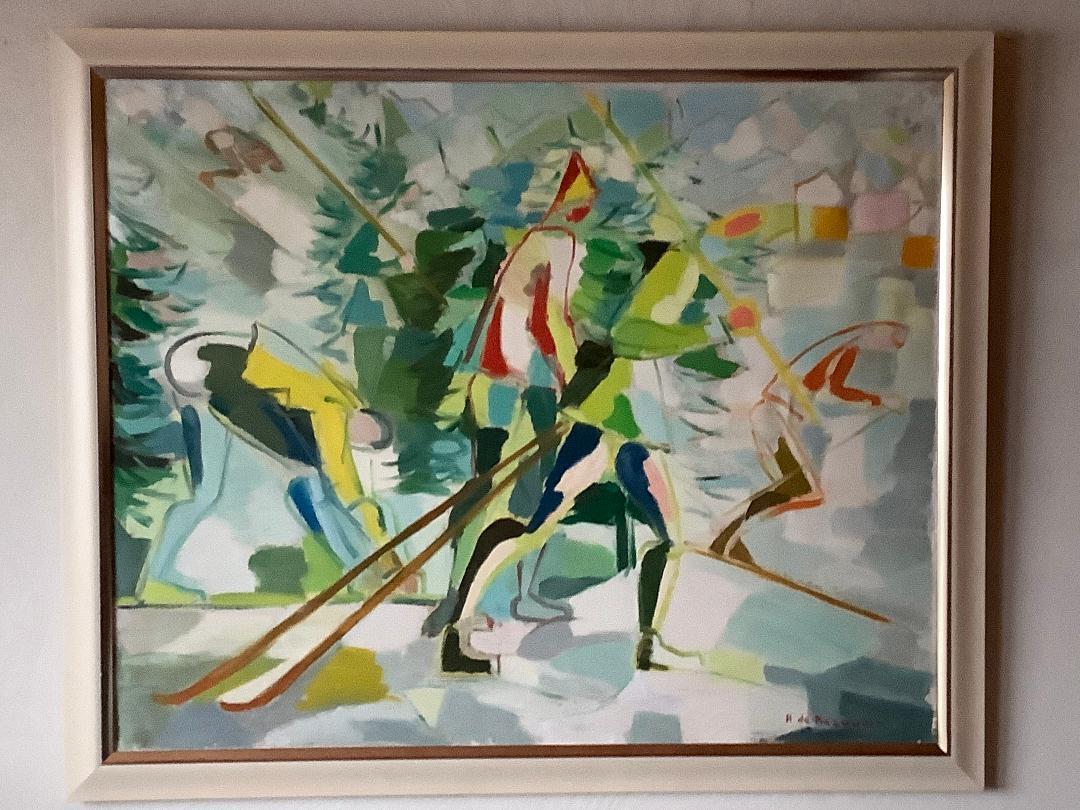 Bild des Werkes mit dem Titel: Skiabfahrt