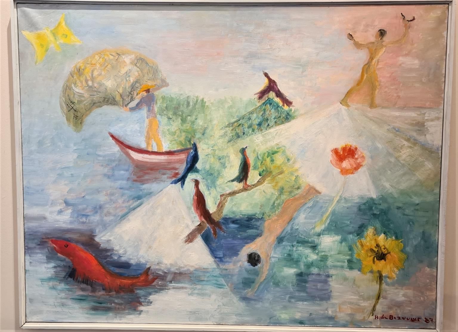 Bild des Werkes mit dem Titel: Un voilier et les oiseaux (Ein Segelboot und Vögel)