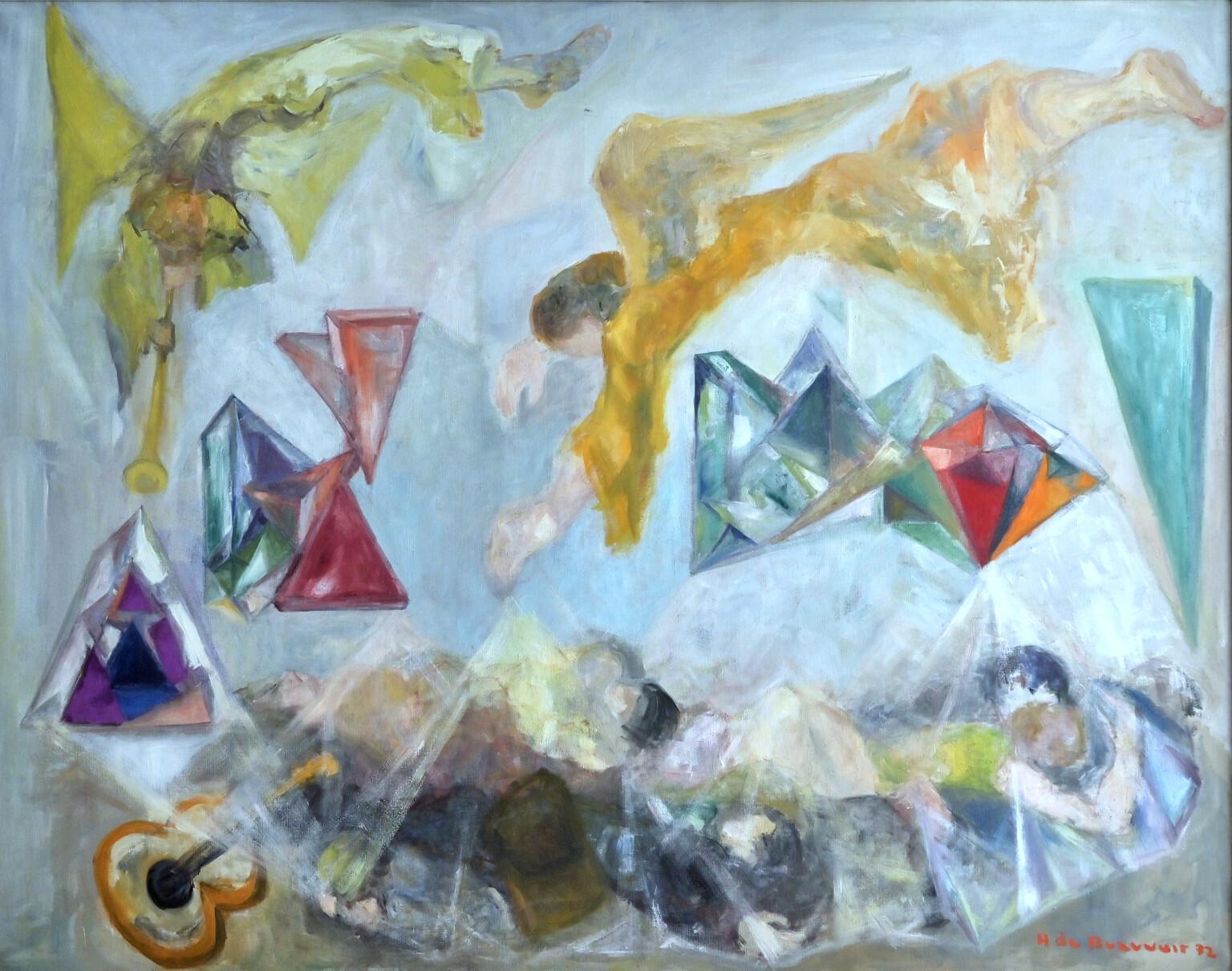 Bild des Werkes mit dem Titel: A Venise les anges réveillent les hippies (Die Engel wecken die Hippies in Venedig)
